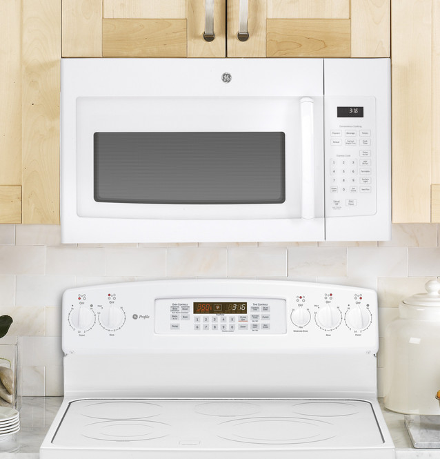 ge 1 6 cu ft over the range microwave oven jvm3160dfww
