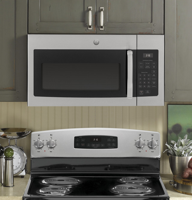 ge 1 6 cu ft over the range microwave oven jvm3160rfss