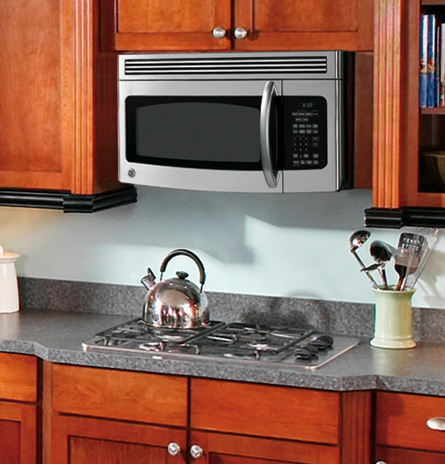 ge 1 7 cu ft over the range microwave oven lvm1750smss