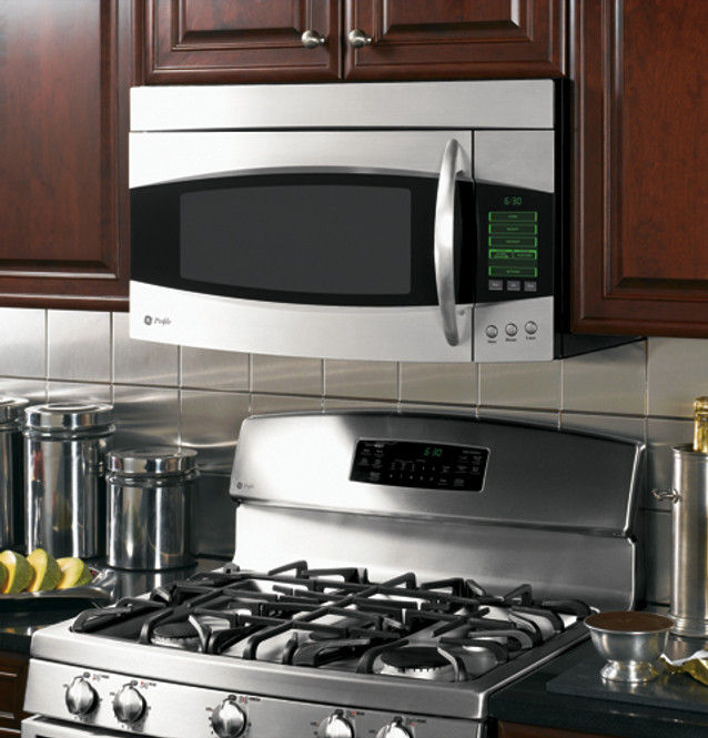 ge profile spacemaker 2 0 cu ft over the range microwave oven pvm2070smss