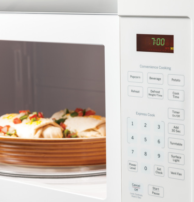 ge 1 6 cu ft over the range microwave oven with recirculating venting jnm3161dfww