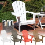 Sunnydaze All Weather Adirondack Patio Chair With Faux Wood Design Outdoor Furniture