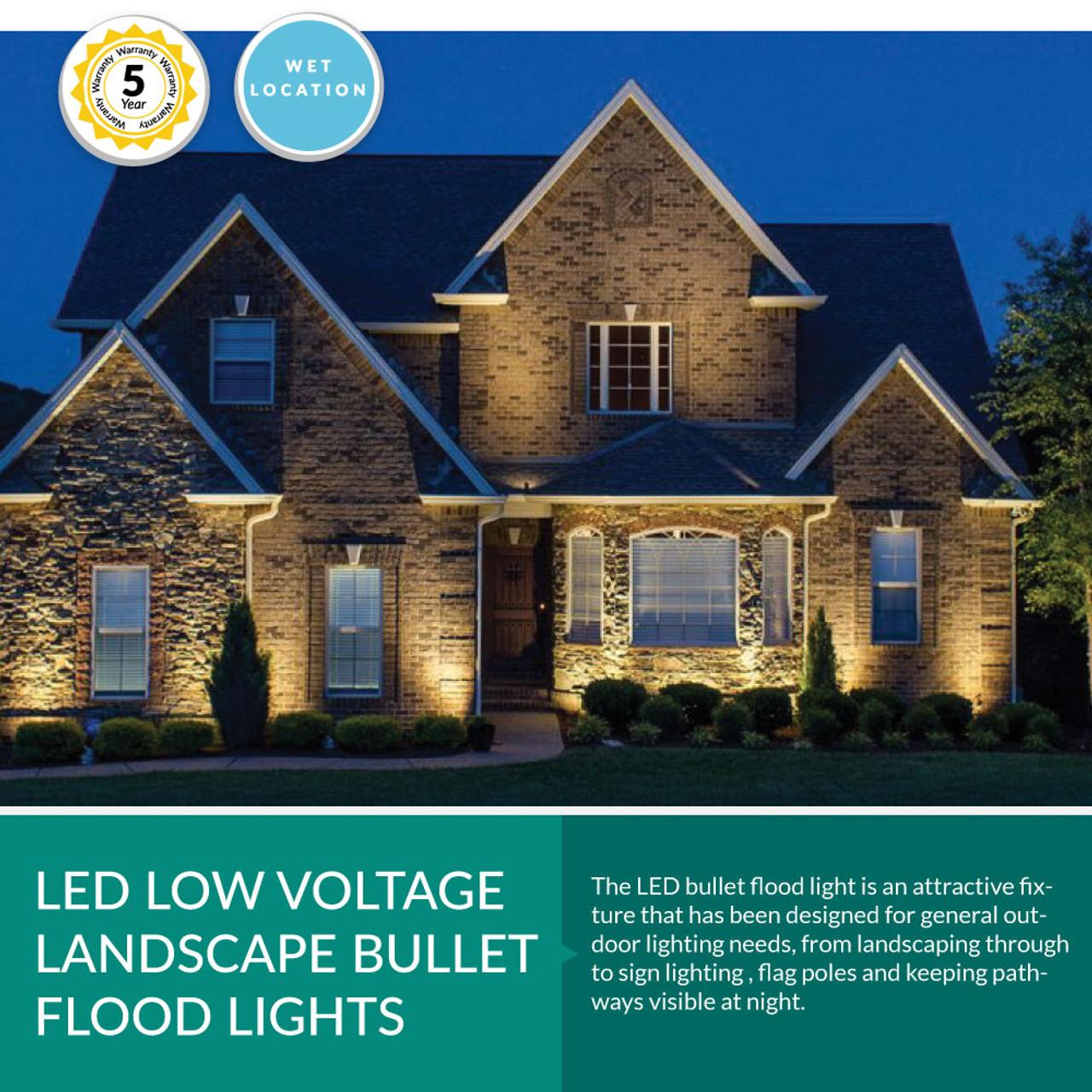 low voltage led landscape bullet flood light