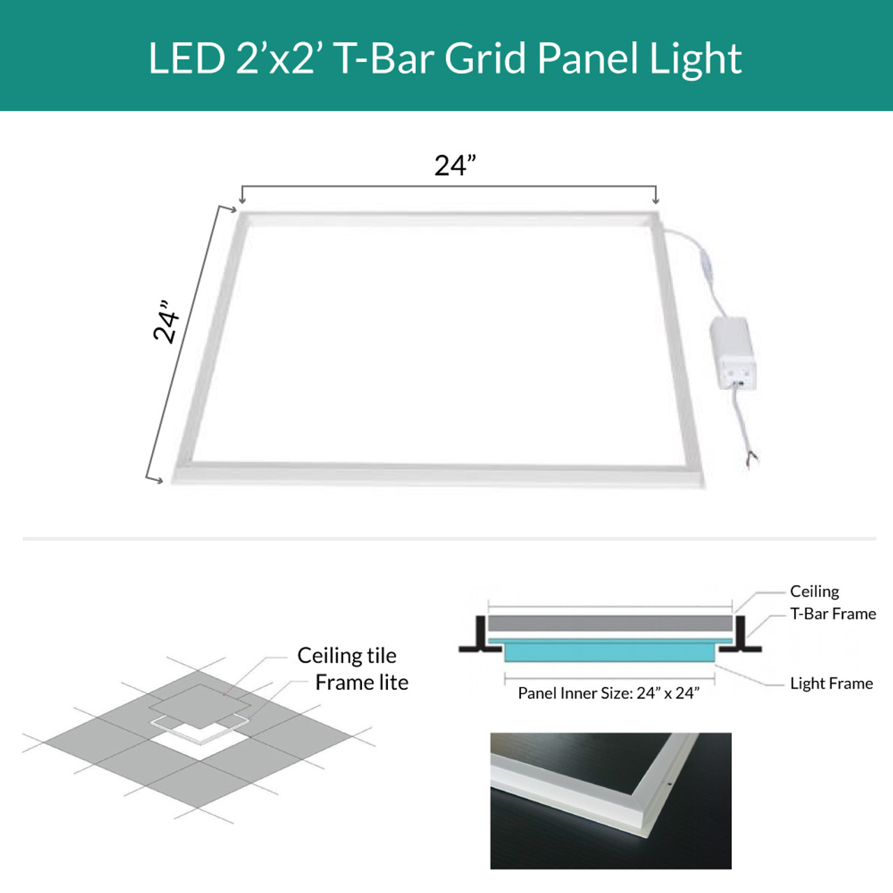 https www superiorlighting com led edge lit grid ceiling tile perimeter light choose your size and color for pricing