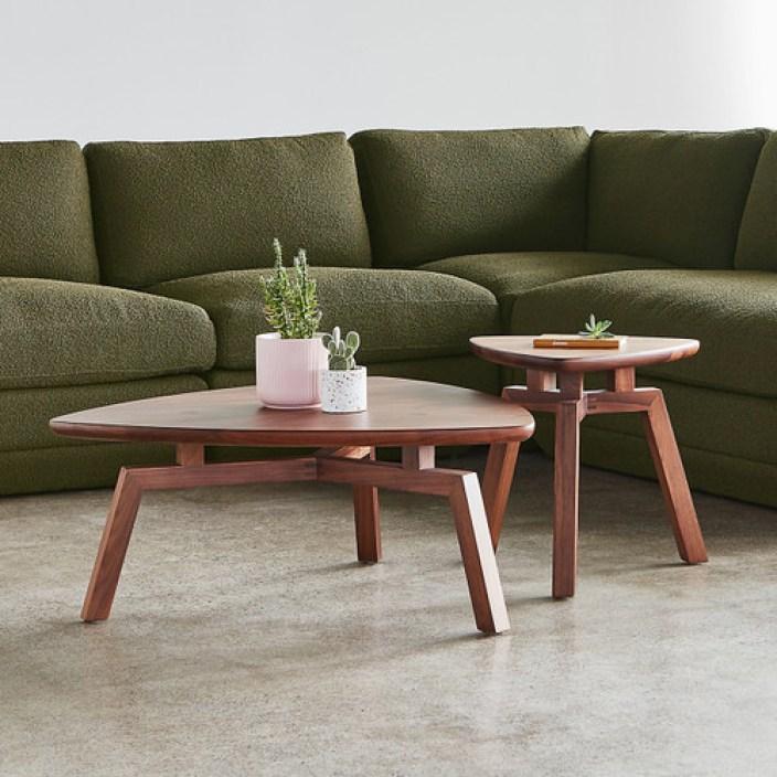 Solana Triangular End Table by Gus Modern