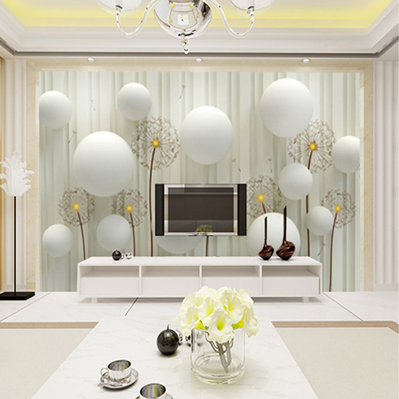 Custom 3d Photo Wallpaper Modern Fashion Simple And Soft Dandelion Bedding Room Sofa Backdrop Mural Wall Paper For The Walls 3d Onshopdeals Com