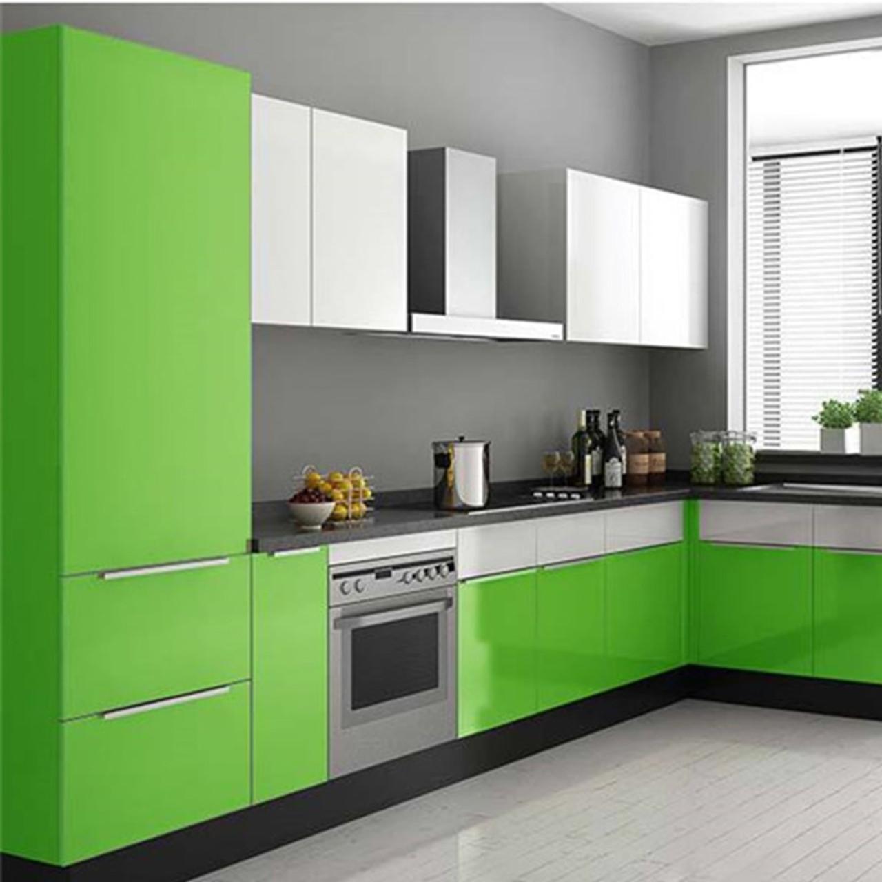 Waterproof Pvc Vinyl Solid Color Green Self Adhesive Wallpaper Kitchen Wardrobe Cabinet Furniture Renovation Door Wall Stickers Onshopdeals Com