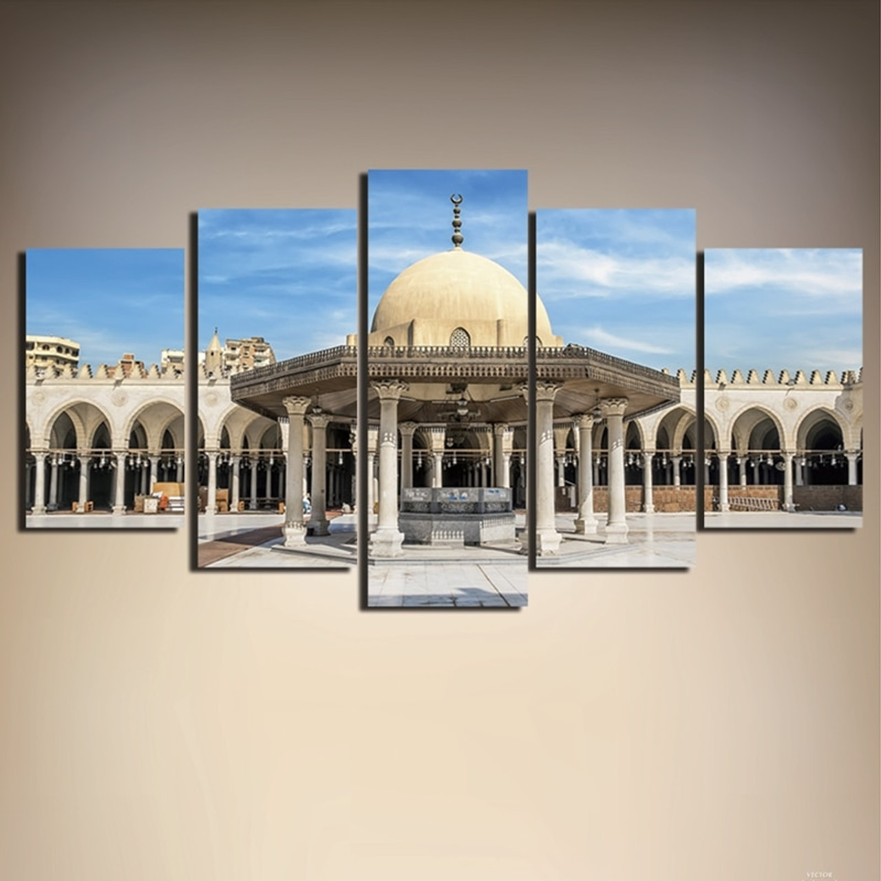Canvas Poster Home Decor Modern Pictures 5 Pieces Islamic Muslim