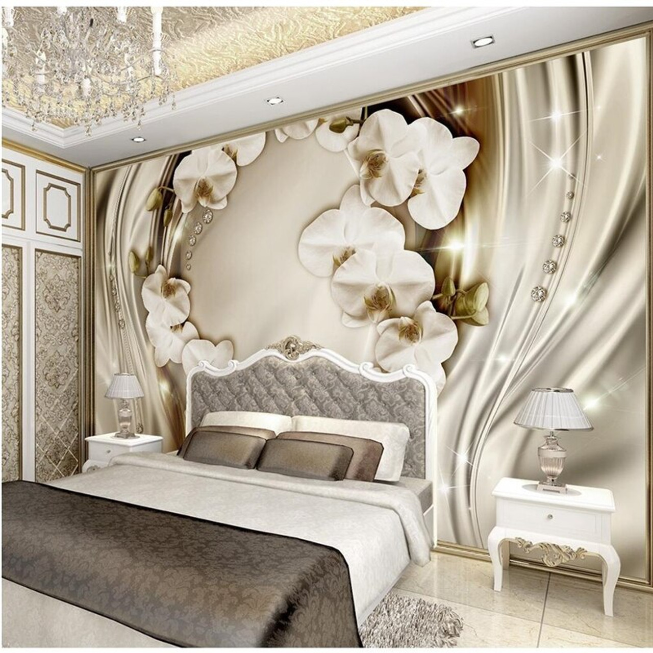 Beibehang Custom Wall Paper Diamond Romance Luxury Wall Covering Bedroom Mural Background 3d Flooring Wallpaper For Walls 3 D Onshopdeals Com