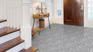 Perfection Floor Tile Natural Stone Chevron Graystone 20
