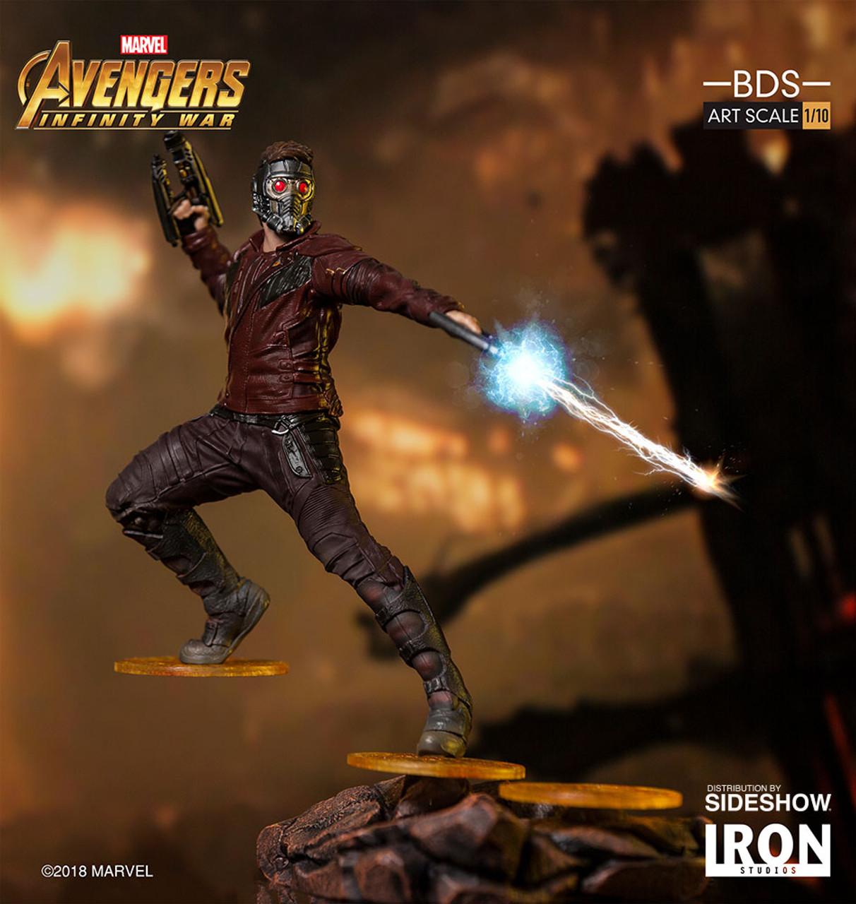 marvel star lord statue by iron studios avengers infinity war battle diorama series art scale 1 10 base figurine