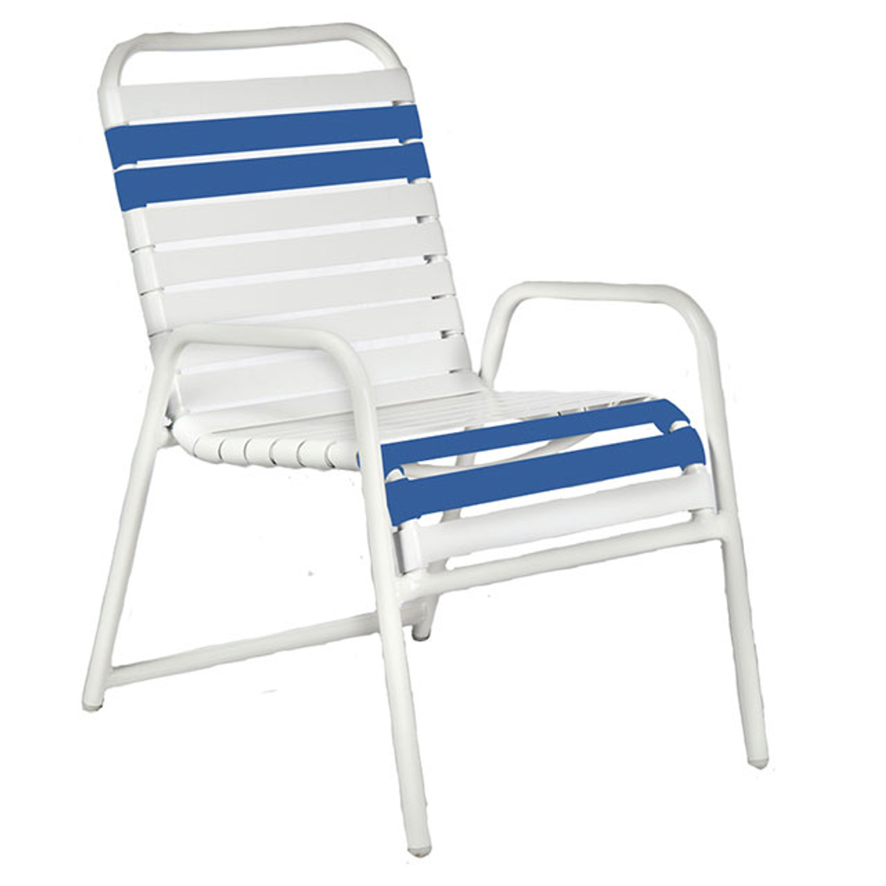 st thomas aluminum strap dining chair