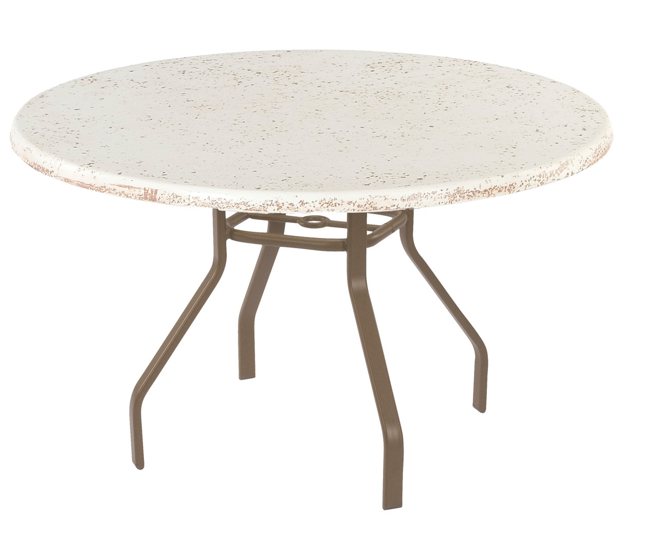 resort contract faux stone round dining table