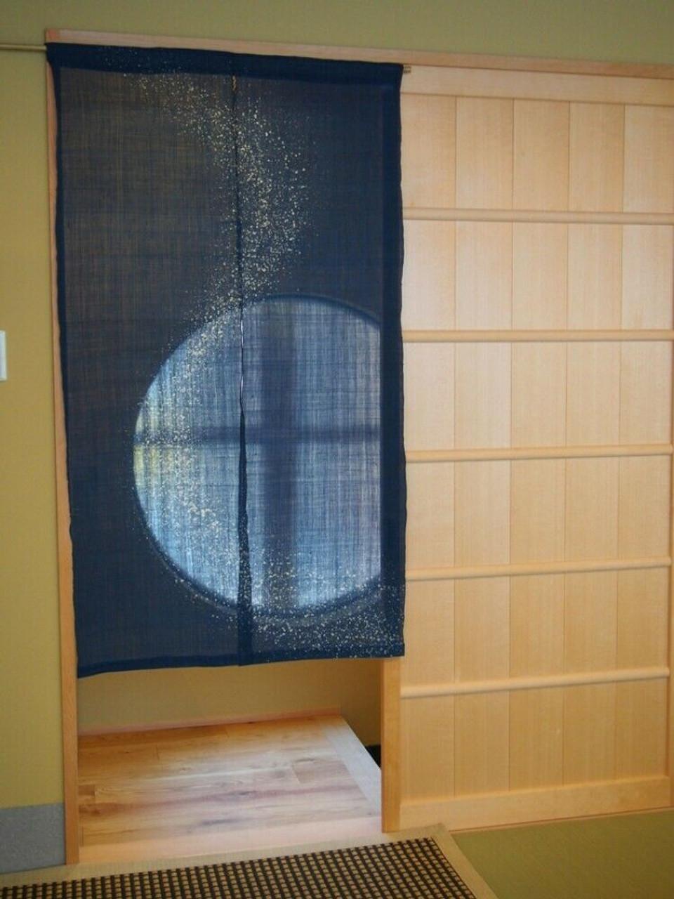 kyoto noren door curtain tapestry roketsu dye milky way 86x150 japan