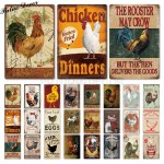 Rooster Chicken Farmhouse Retro Hanging Sign Wall Decor 24 Styles Shipdirect2you