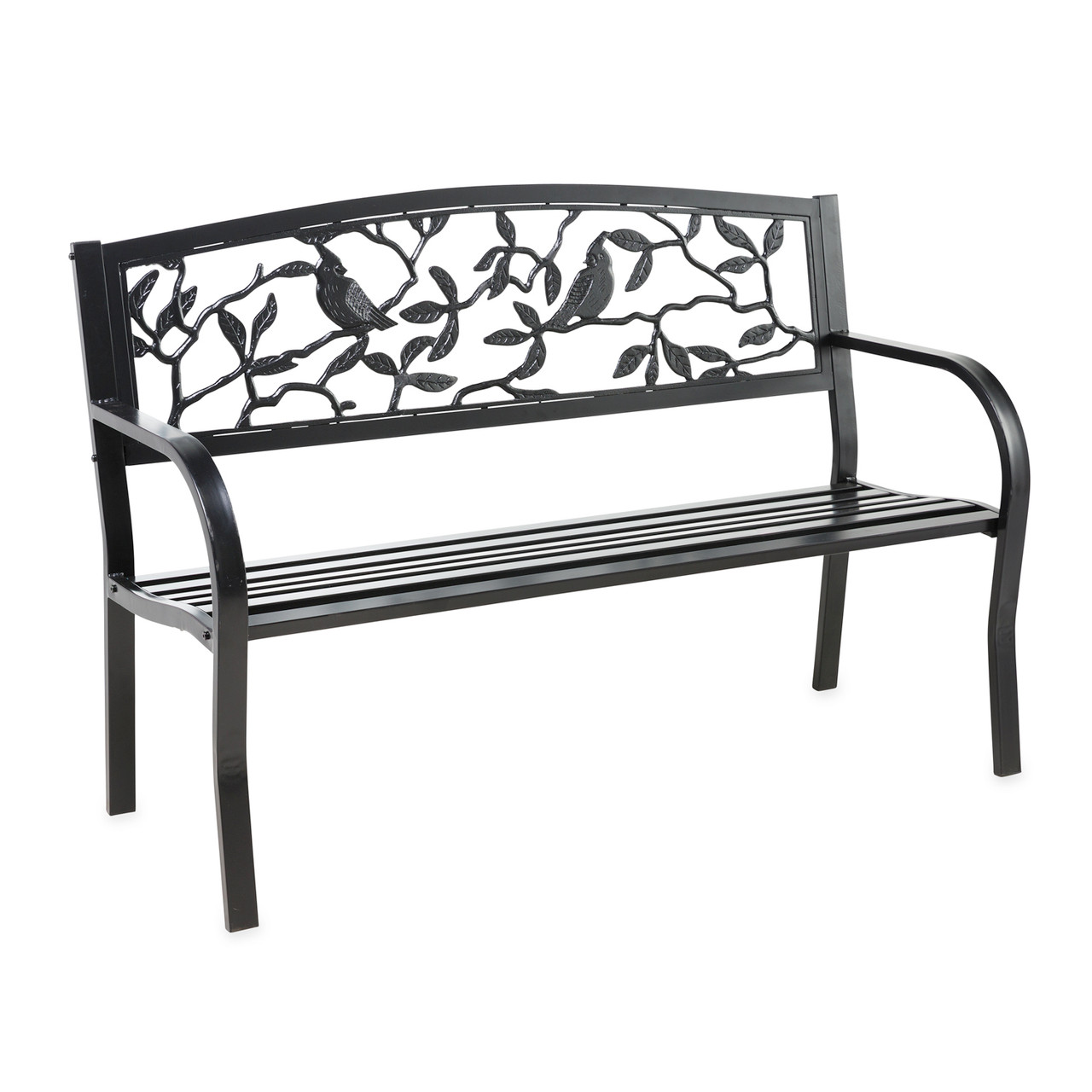 Cardinals Metal Garden Bench Trees N Trends Home Fashion More