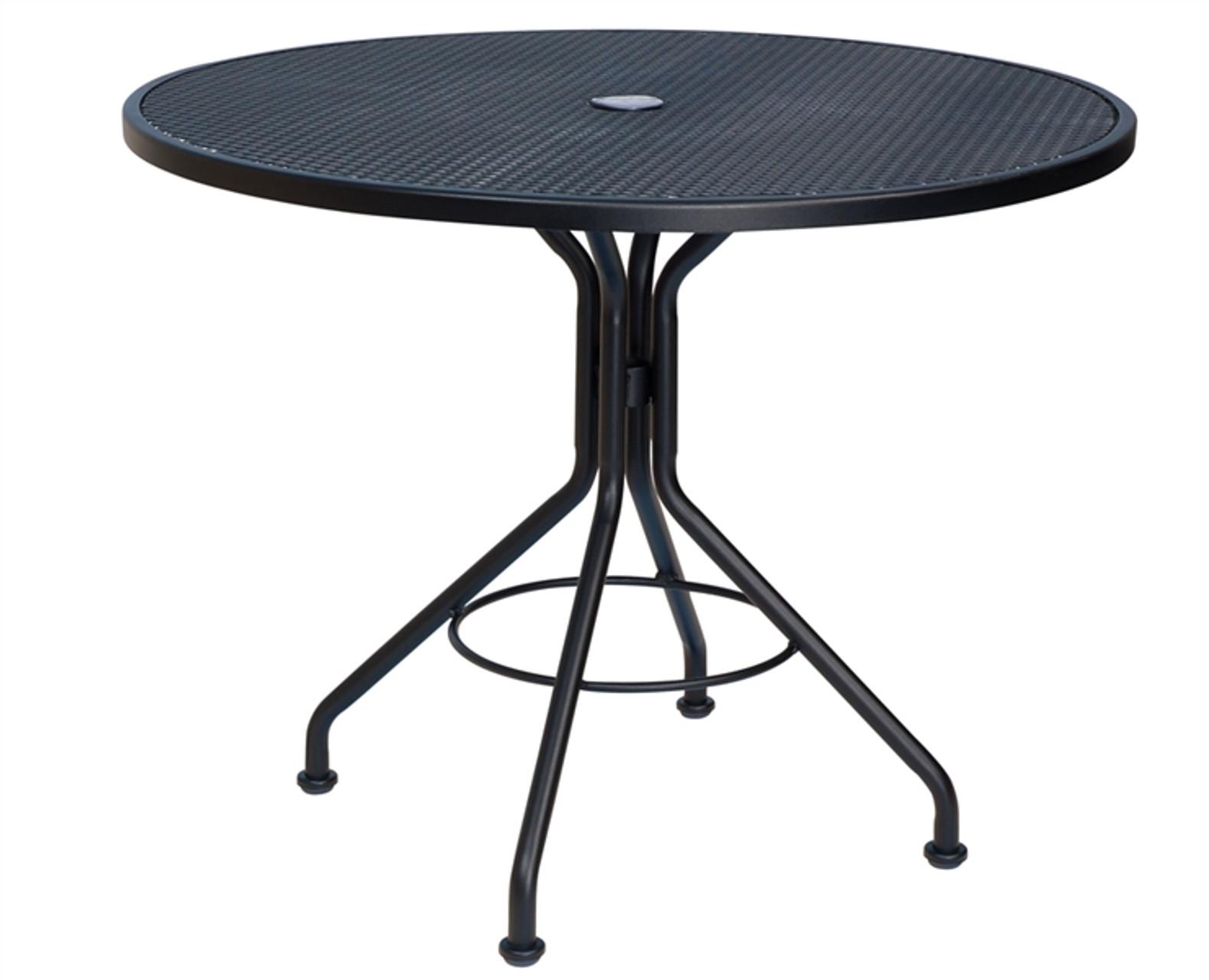 woodard outdoor 36 round bistro umbrella table