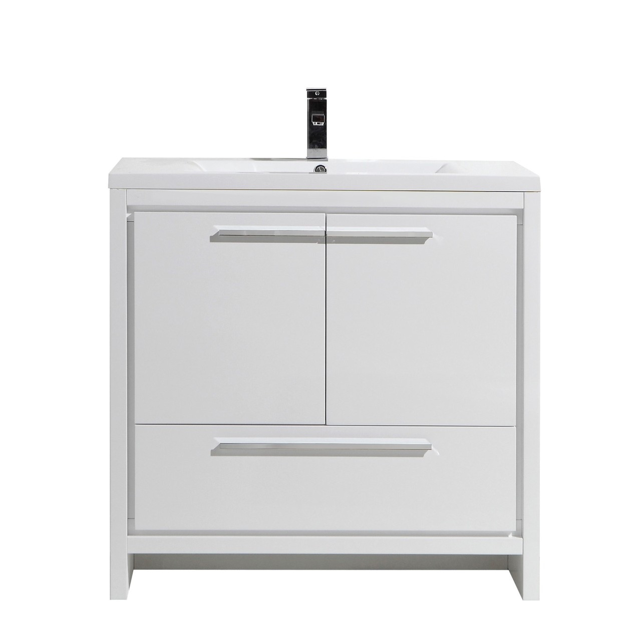 dolce 36 bath vanity with single reinforced acrylic sink