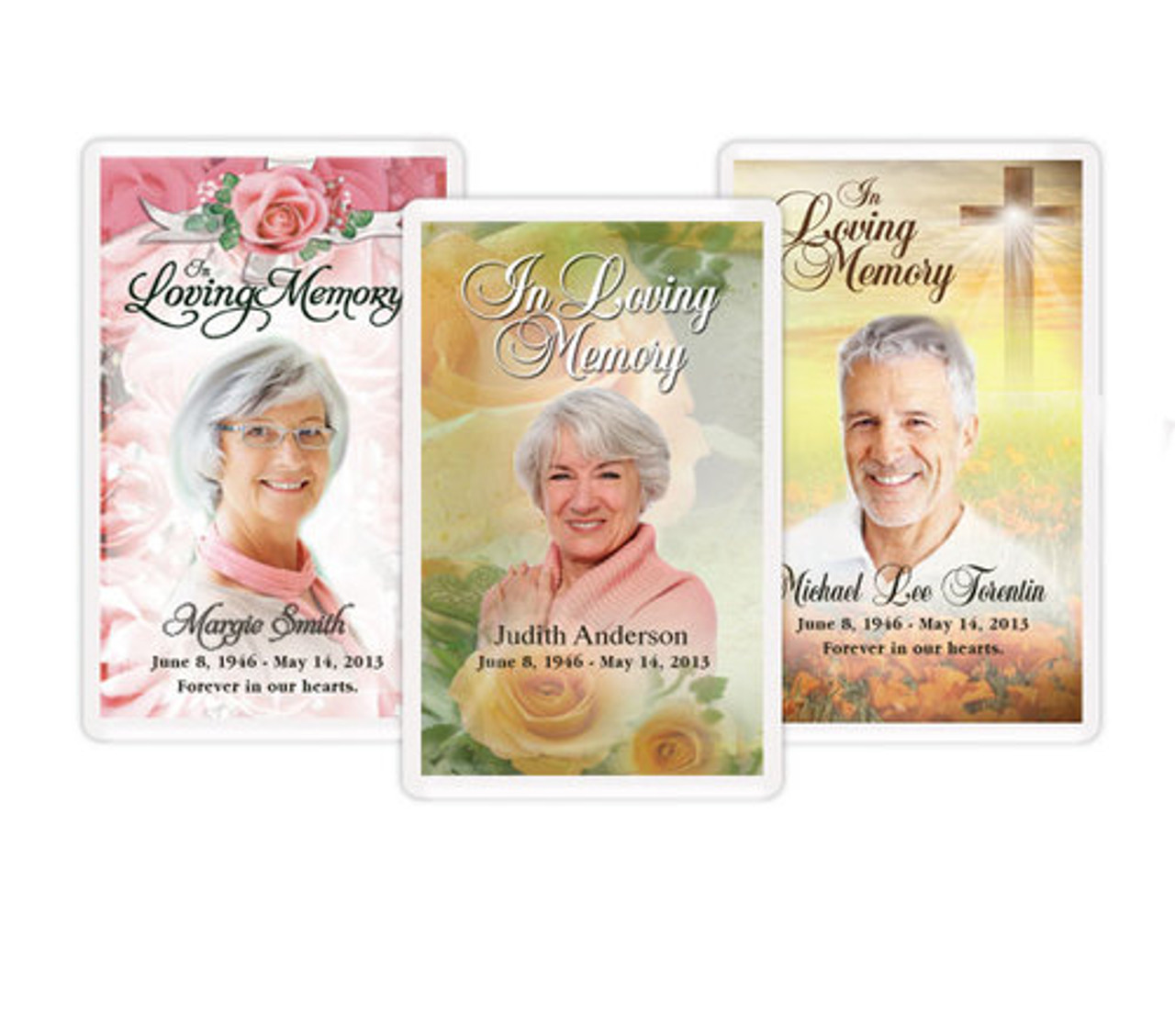 Custom Funeral Memorial Prayer Card Template