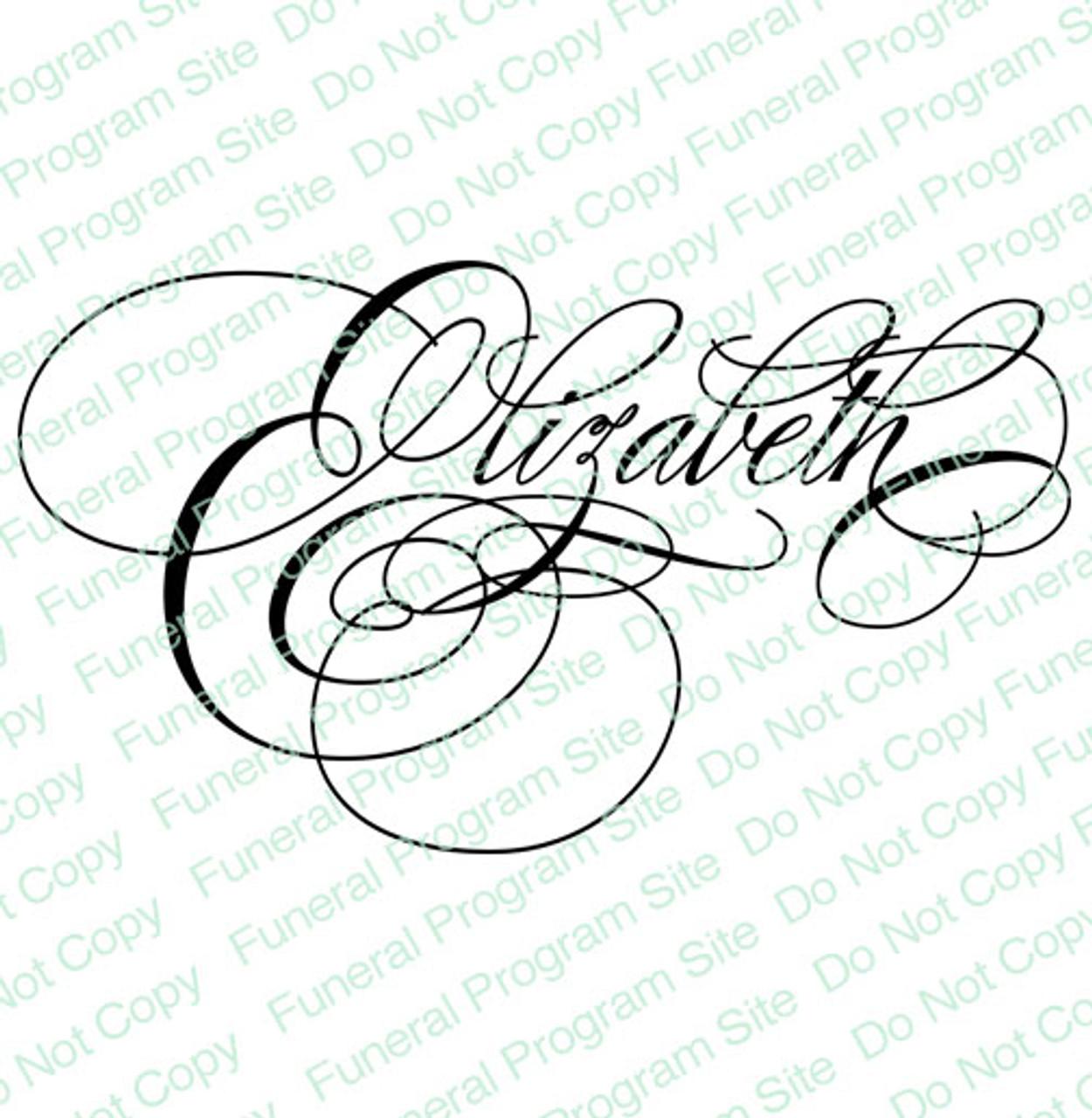 Elizabeth Word Art Name Design