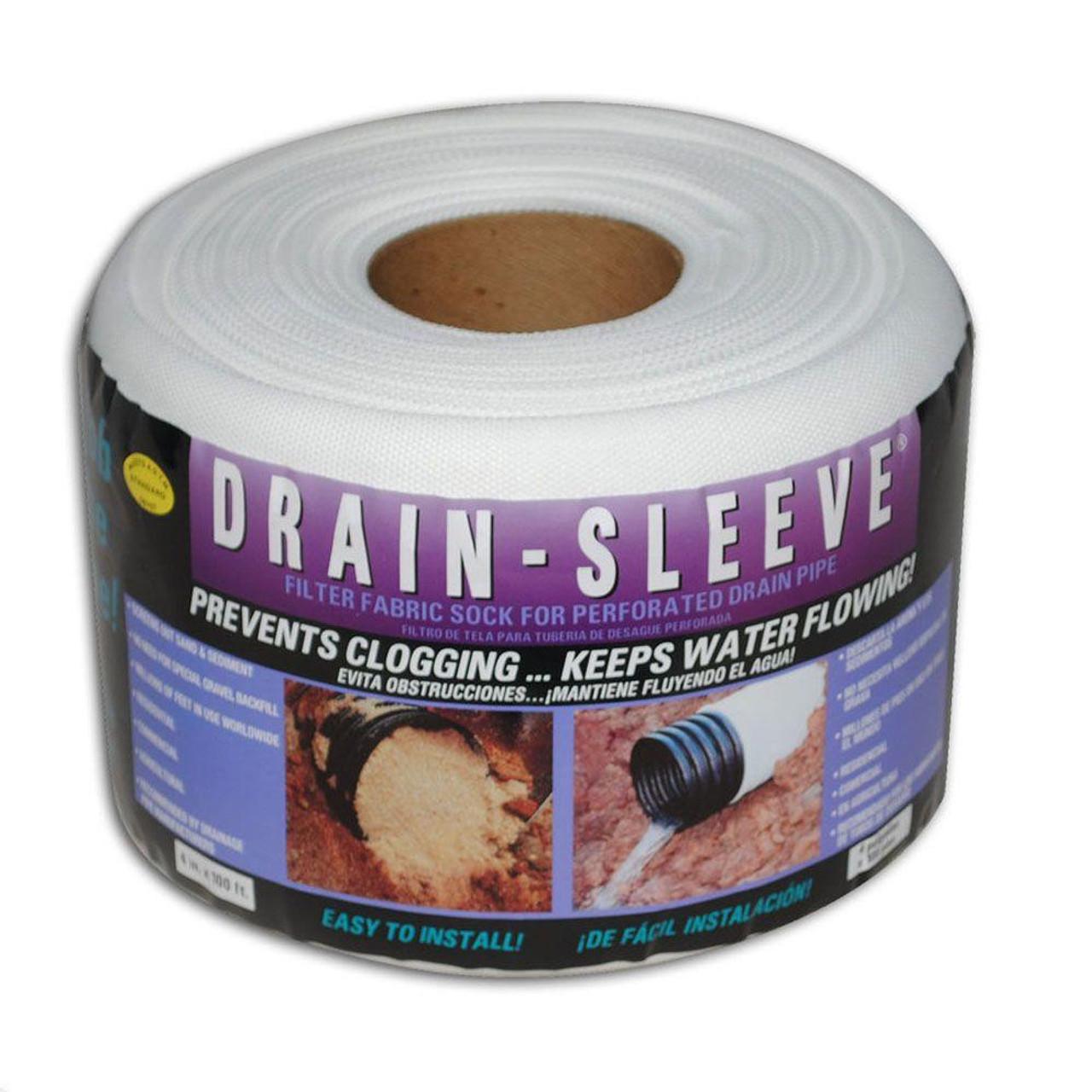 6 x 100 white drain sleeve filter sock