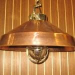 Large Copper Shade Hanging Nautical Light Nautical Lights