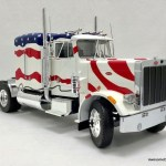 Road Kings 1 18 1967 Peterbilt 359 Tractor Stars Stripes Awesome Diecast