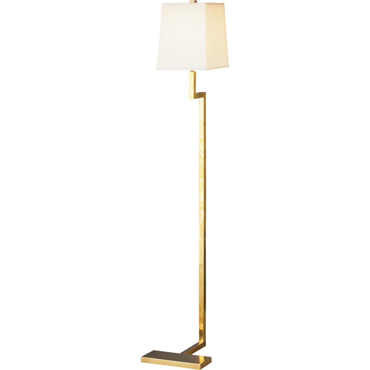 robert abbey doughnut floor lamp in natural brass 149