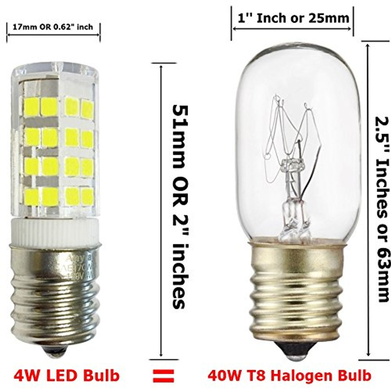 3 bulbs e17 led bulb for microwave oven freezer under microwave stove light 40w equival cool white 6000k