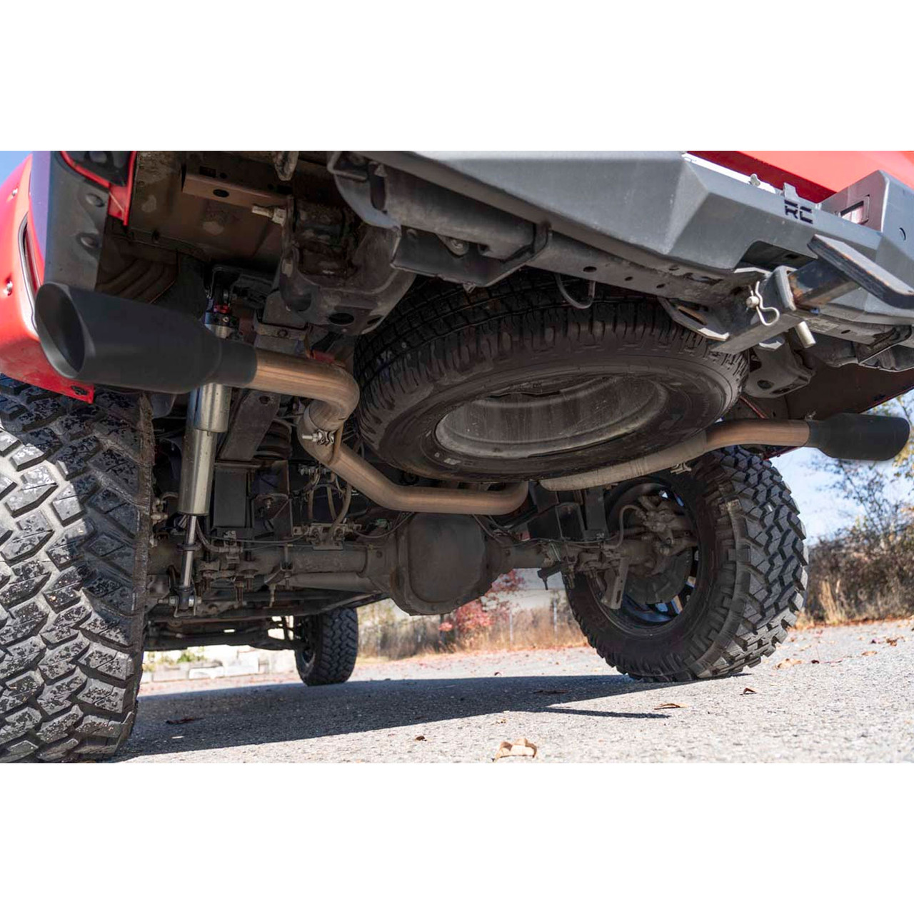 2015 2020 ford f 150 dual cat back exhaust system with black tips