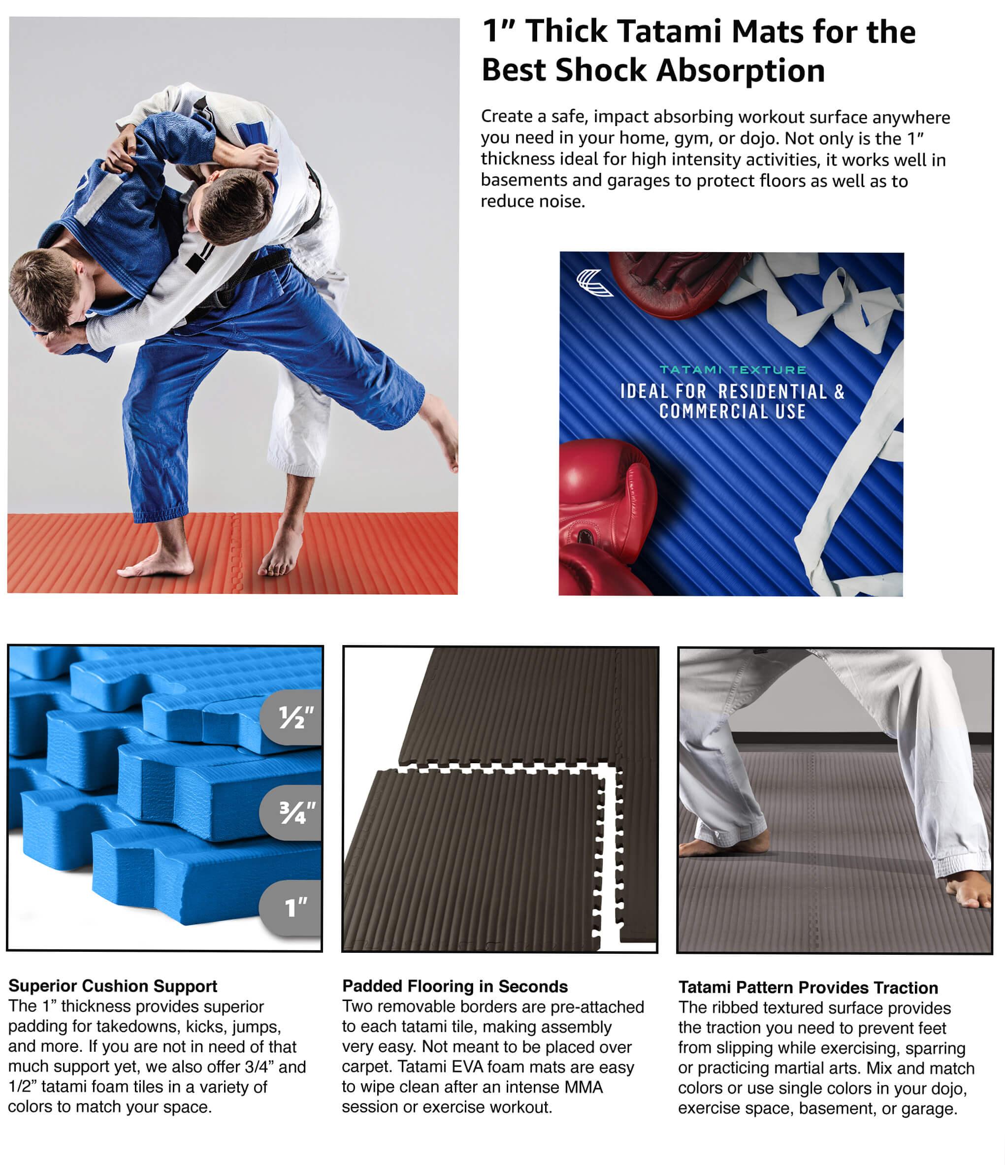 1 thick martial arts mats 4 color options