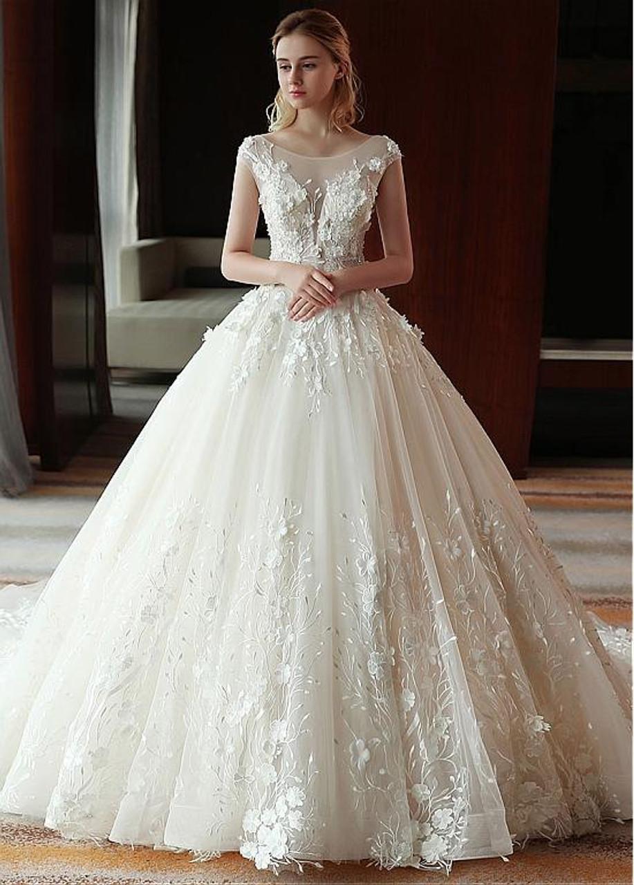 cb05cc8d648ef Flower Ball Gown Wedding Dress | Gardening: Flower and Vegetables