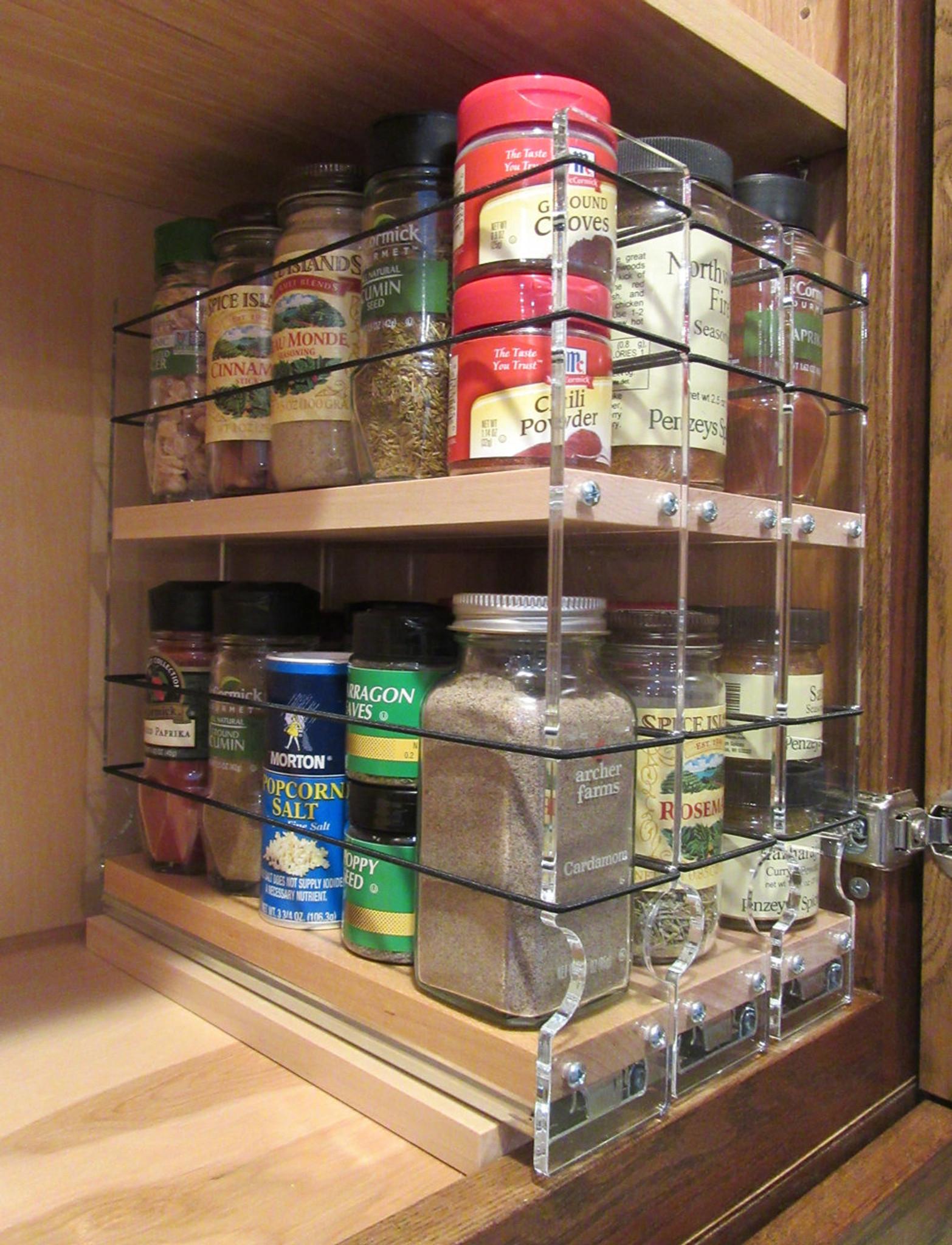 222x2x11 spice rack drawer maple