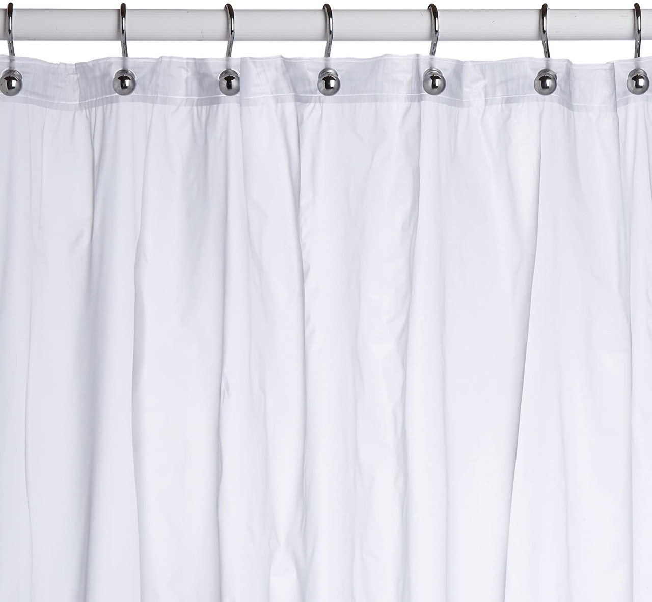 frosted clear vinyl shower curtain liner 6 gauge with grommets and magnets