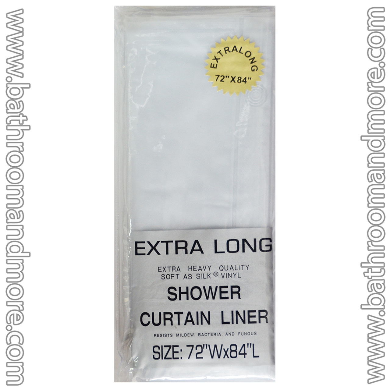 frosty clear vinyl shower curtain liner extra long 72 x 84
