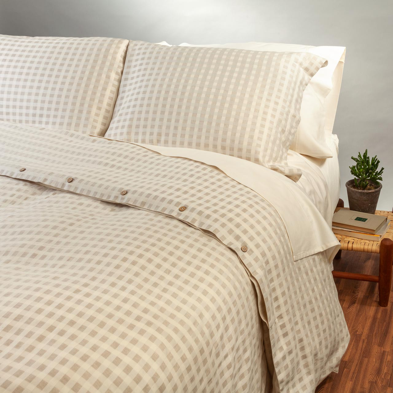 organic cotton linen pillow sham set