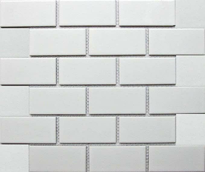 harmonics snow 2x4 brick joint mosaic tile 12 in x 12 in