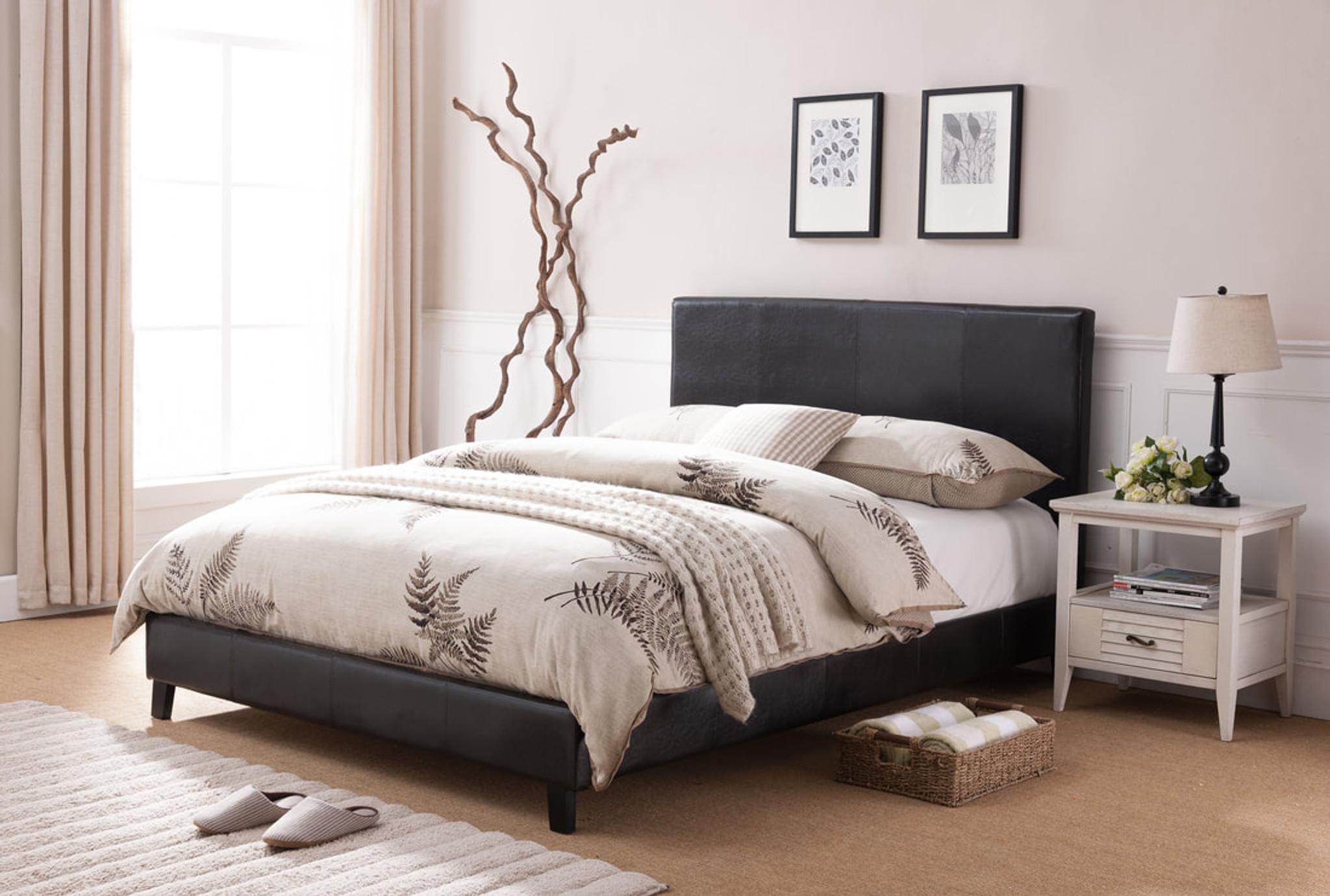 Lorenzo Platform Bed Frame And Mattress Kassa Mall Home Furniture