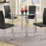 5 Pcs Modern Round Dining Table Set In Black Km Home Furniture