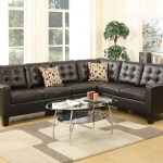4 Pcs Modular Sectional Sofa Set W Armsless Chair 2 Accent Pillows Upholstered In Espresso Leather