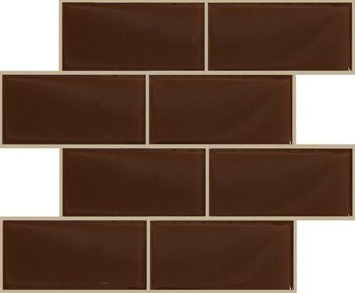 kitchen backsplash tiles by color brown