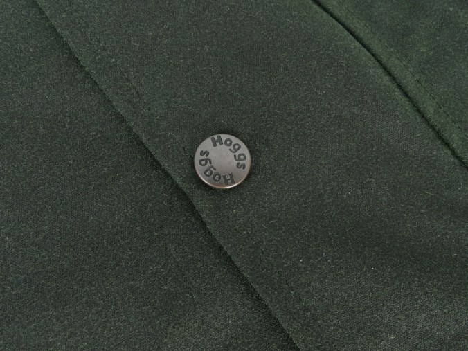 Hoggs of Fife Padded Wax Jacket stud detail