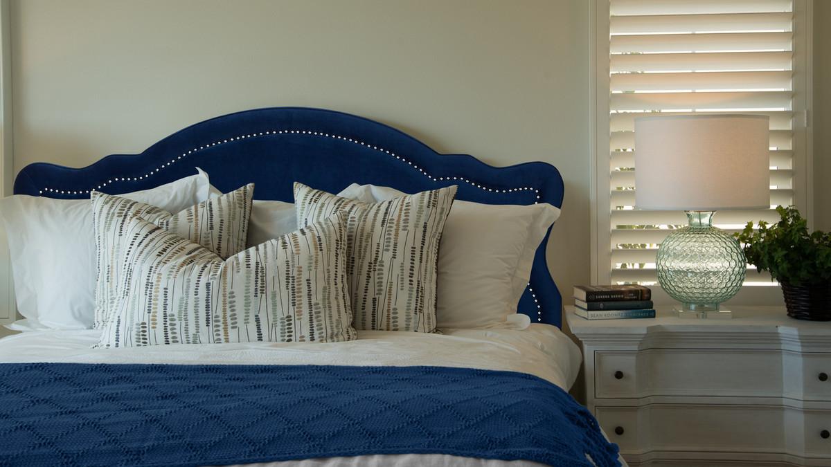 Legacy Upholstered Headboard Navy Blue King Size Jennifer Taylor Home