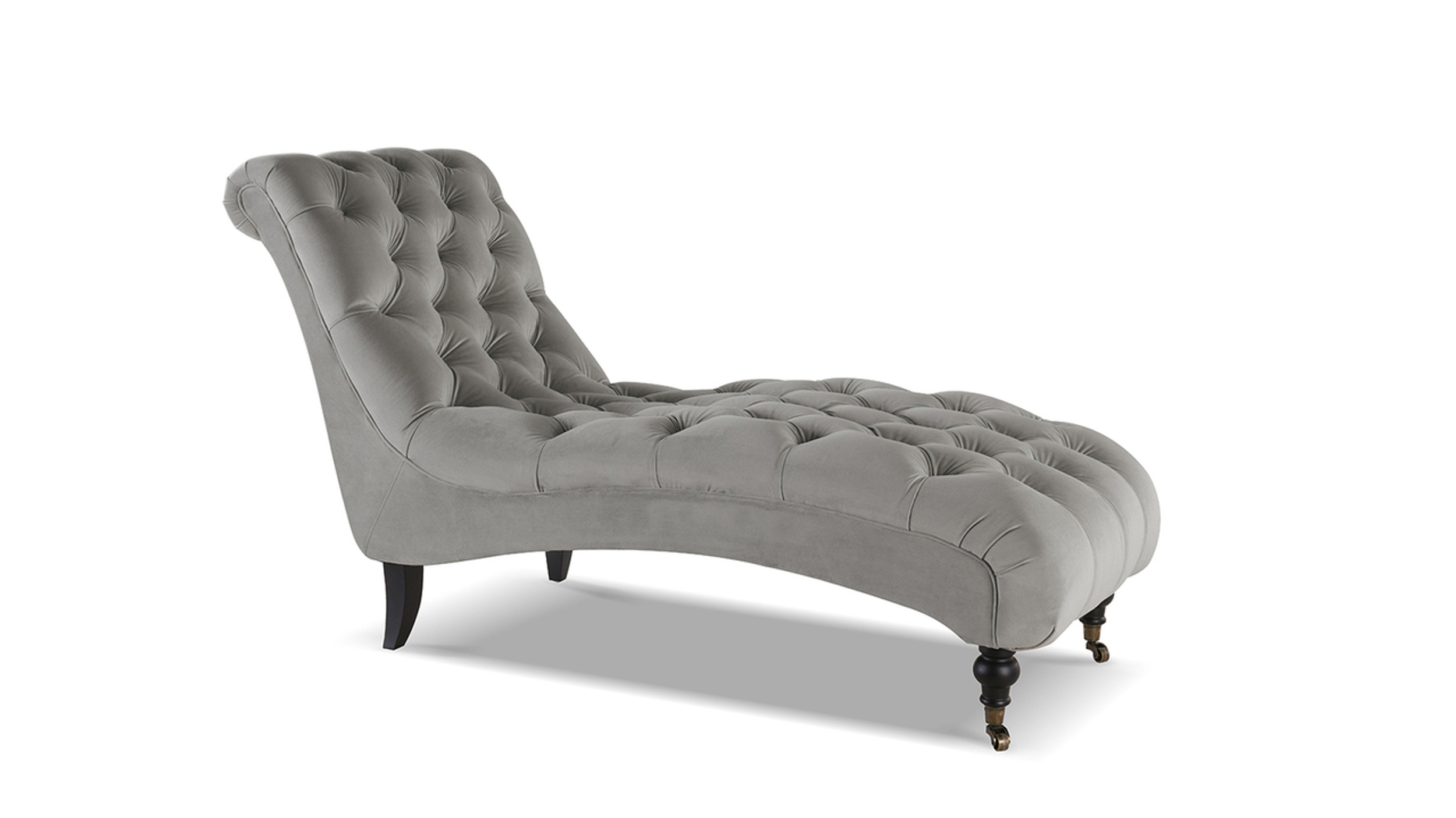 angelica tufted chaise lounge opal grey