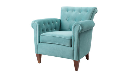 Giovanni Tufted Accent Chair Arctic Blue Jennifer