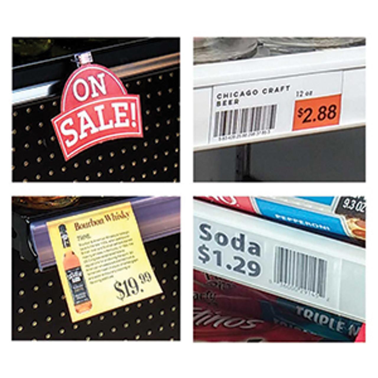 price tag holder for freezer cooler