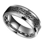 8mm Unisex Or Women S Tungsten Carbide Wedding Ring Band Silver Celtic Knot Ring With Irish Triquetra Trinity Design Ring Blingers