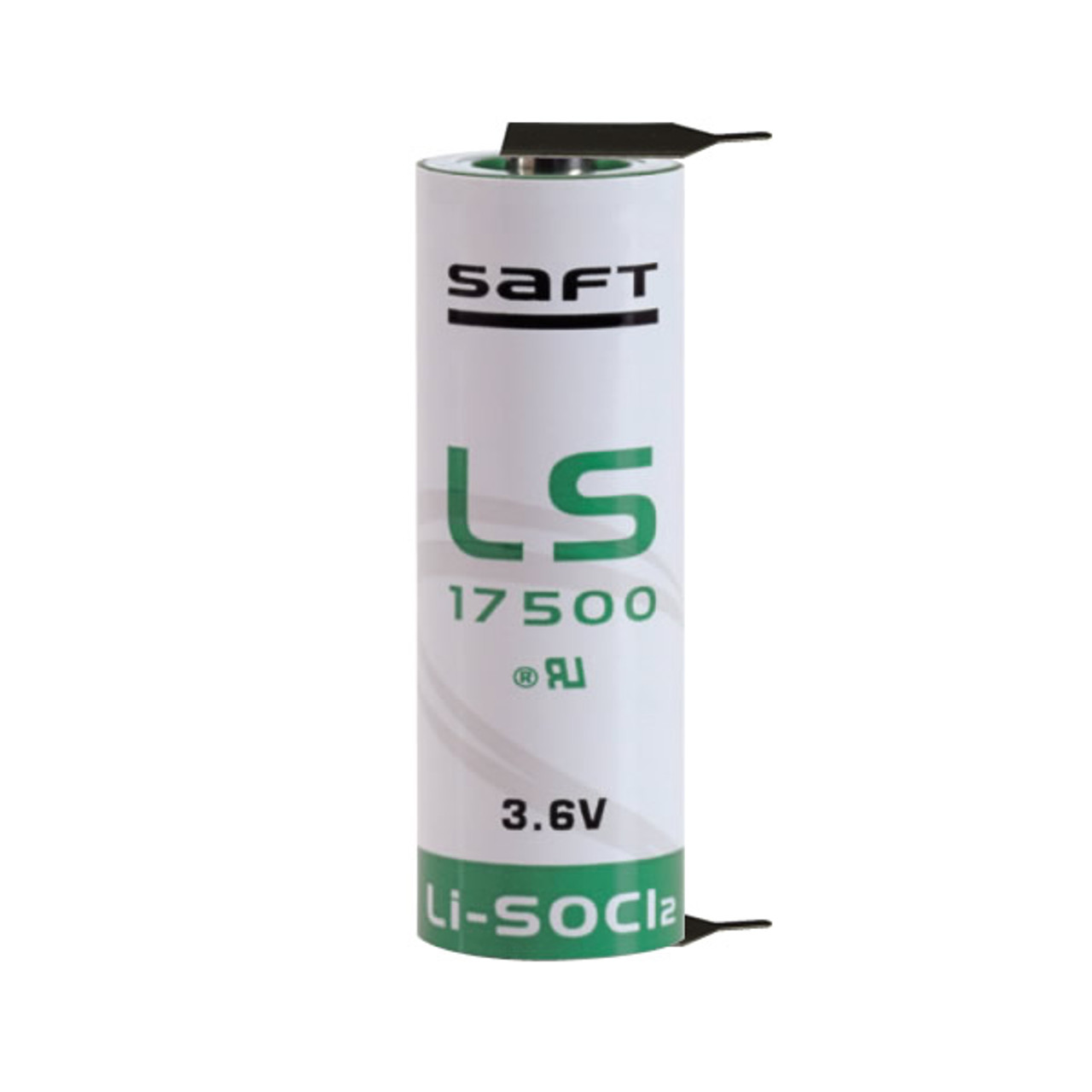 Saft Ls17500 2 Pf Battery 3 6v 3 60ah A Lithium 2 Pins 1 1