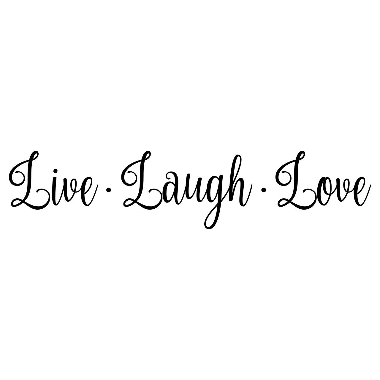 live laugh love 20 x 4 5 vinyl decal sticker 20 color options