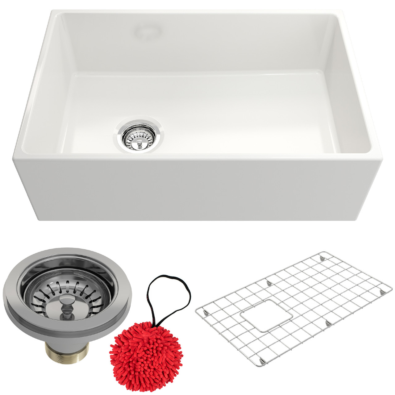 fc60 farmhouse apron front fireclay 30 single bowl kitchen sink with offset drain